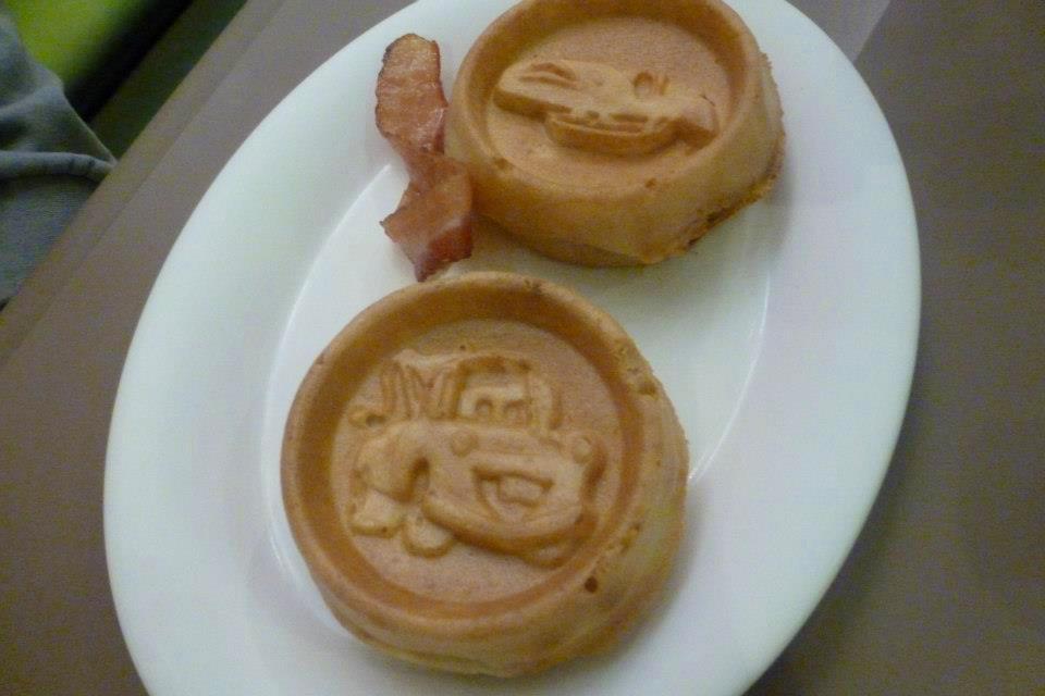 Disney's Art of Animation Resort Cars Shaped Waffles